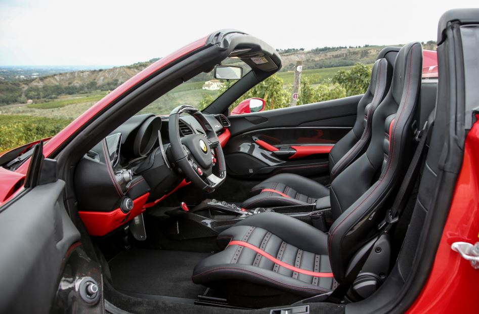 Ferrari 488 Spider Sports Car interior 1