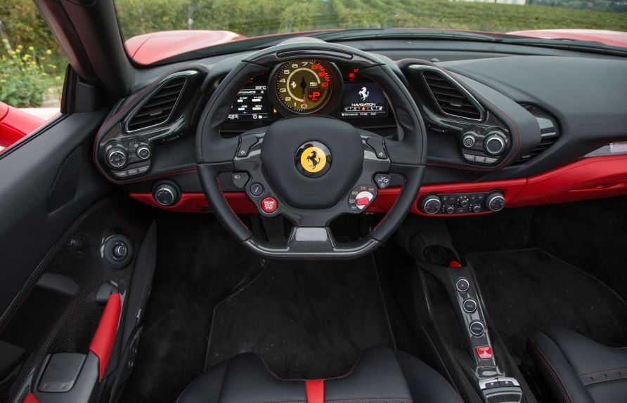 Ferrari 488 Spider Sports Car interior 2