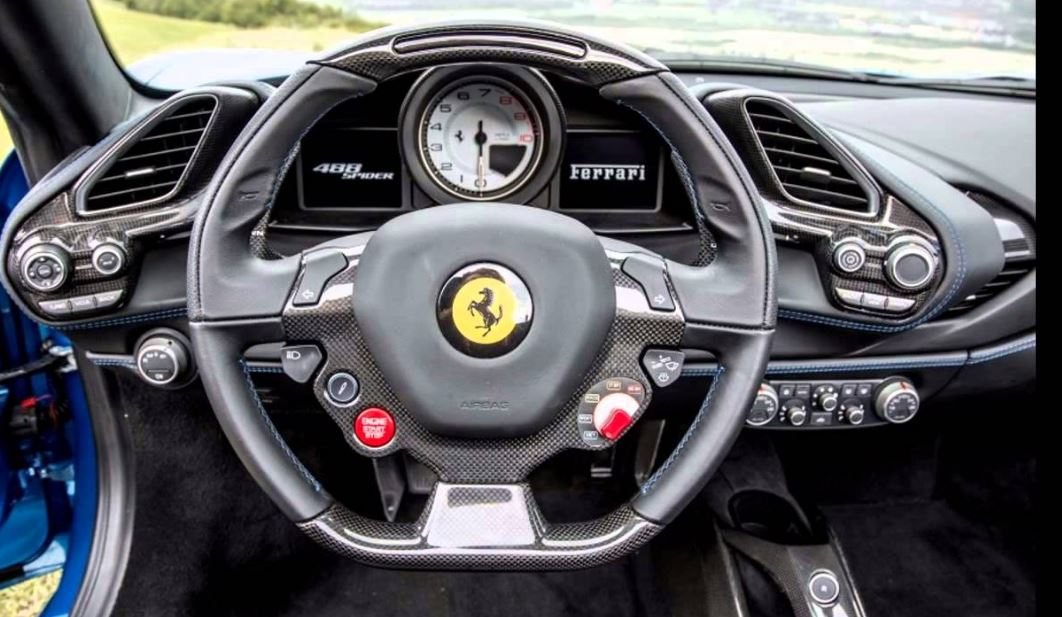Ferrari 488 Spider Sports Car interior 3