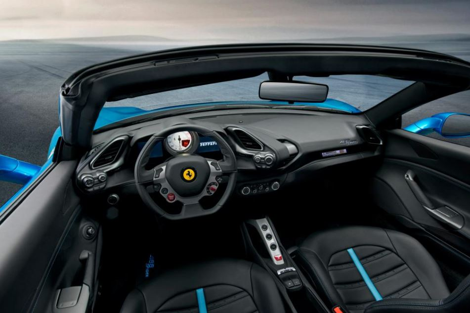 Ferrari 488 Spider Sports Car interior 4