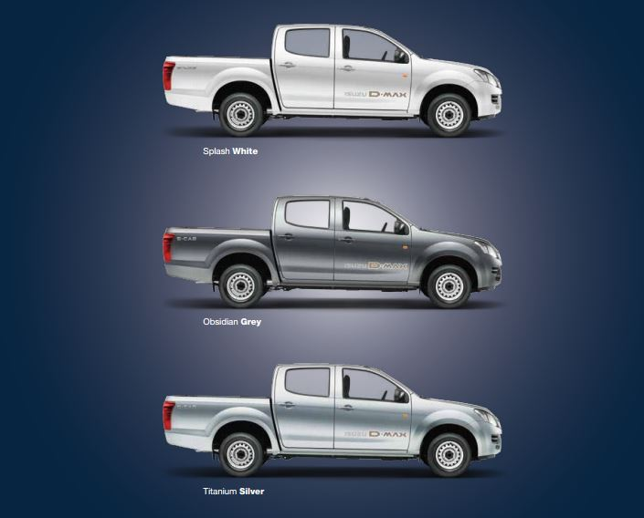 ISUZU D-MAX S-Cab Pickup Truck colors