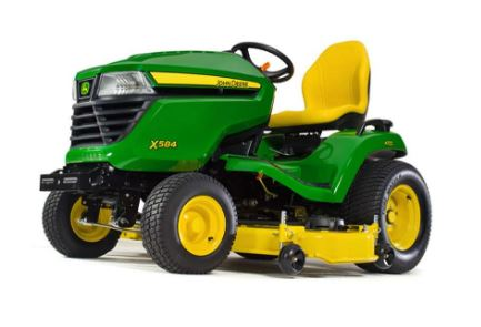 John Deere X584 Lawn Tractor with 48-in. & 54-in. Deck