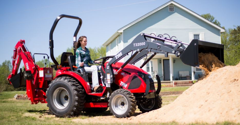 TYM T234 HST Sub-Compact Utility Tractor with Backhoe loader