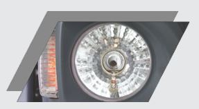 MULTI FOCAL HEAD LAMP WITH HALOGEN BULB